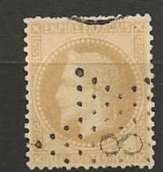 Fr  Pub Prix Fixe   YT N° 28 Oblitere Etoile De Paris  N°  8 - 1863-1870 Napoleone III Con Gli Allori