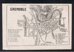 RB 929 - Early Town Centre Map Of Grenoble France - Topographical Maps