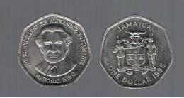JAMAICA -   1 Dolar   1996  KM164 - Alexander Bustamante, Coin - Jamaica