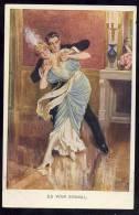 COUPLE PAARE DANCE TANZ  ART CARDS M.MUNK ,WIEN, Nr.1087. OLD POSTCARD - Couples