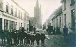 """Echte Foto Repro Van Oude """" Groep Kinderen Voor De Afspannig En Slachterij ....."""" Oostende ???? - Reproductions"""