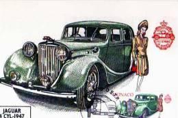 Carte 1° Jour,obliteration, Timbre, Jaguar 4 Cyl 1947,Monaco 23-6-2000, Illustrateur - Monaco