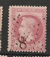 Fr  Pub Prix Fixe   YT N° 32 Oblitere Etoile De Paris  N°  8 - 1863-1870 Napoleon III With Laurels