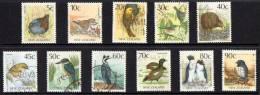 New Zealand 1988 Birds 11 Values Used - New Zealand