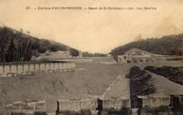 CPA   13   BASSIN DE ST-CHRISTOPHE A VIDE----VUE GENERALE---TRES RARE ? - Frankreich