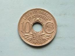 10 Centimes .1938. ( KM 889.1 ) ! - D. 10 Centimes