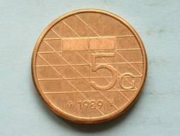 5 GULDEN 1989 ( KM 210 ) ! - [ 3] 1815-… : Kingdom Of The Netherlands
