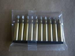 10 Cartouches à Blanc  Laiton Cal 5,56mm  Pour FAMAS - Equipment