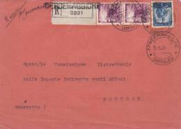 UNICA COLLEZIONE.ITALIA REPUBBLICA.STORIA POSTALE.BUSTA RACCOMANDATA AFFRANCATA.CERCEMAGGIORE- MORCONE-H587 - 1946-.. République