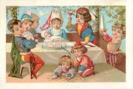 Chromos Réf. B132. Maison Gouache - PAris- Repas, Vin, Enfants, Bébé - Chromos