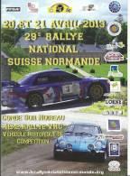 Livre  Programme :  Rallye  Suisse Normande A Condé Sur Noireau  Cavados-orne - Livres, BD, Revues