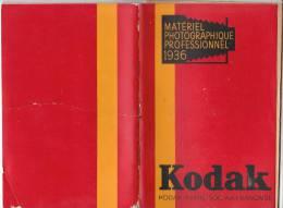 Catalogue Matériel Photographique Kodak 1936  Chambres Carrées - Photographie