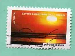 FRANCE 2012 - Y&T N° A - FEU : COUCHER DE SOLEIL SUR LA MER - Used Stamps