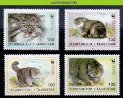 Moq198s WWF FAUNA ZOOGDIEREN WILDE KAT PALLAS´S CAT MAMMALS TAJIKISTAN 1996 PF/MNH # - W.W.F.