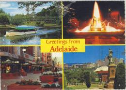 AUSTRALIA - ADELAIDE - Victoria Square Fountain, Used, Posted With Nice Stamp - Adelaide