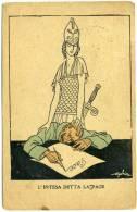 """I.145.  GOLIA Eugenio C.  -  Satirica 1a Guerra Mondiale:  """"L'INTESA DETTA LA PACE"""" - Cartolina Postale In Franchigia - Non Classificati"""