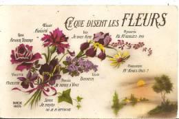 Cpa Langage Des Fleurs - Fleurs, Plantes & Arbres