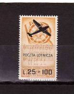 """ITALY 1946 Polish Troups In Italy Air Stamp Overprinted """"POCZTA LOTNICZA"""" Sassone Cat. N° 3 Mint Hinged * - Ohne Zuordnung"""