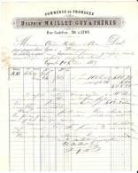 Delphin MAILLET-GUY & Frères Commerce De Fromages 1883 Lyon - France