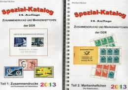 Zusammendruck+Markenhefte Katalog Teil1+2 DDR 2013 Neu 50€ Mit Zierfelder Se-tenant+booklet Special Catalogue Of Germany - Allemagne