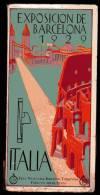 PLAQUETTE - EXPOSICION DE BARCELONA - 1929 - PABELLON OFICIAL ITALIANO - EXHIBICION DEL TURISMO - PUBLICITES - Livres, BD, Revues