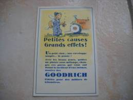 CPA Publicité GOODRICH Petites Causes Grands Effets - Pubblicitari