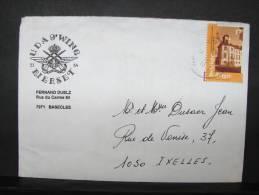 LetDoc. 15. Timbre N°  2770 Château D´Aspremont. Cachet UDA 9è Wing 53-54 Bierset + Lettre De Fernand Duelz Basècles - Belgique