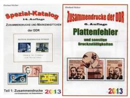 DDR Zusammendrucke/ Abarten Teil 1+4 Von 2013 Neu 50€ Freimarken Und Sondermarken Se-tenant Special Catalogue Of Germany - Allemagne