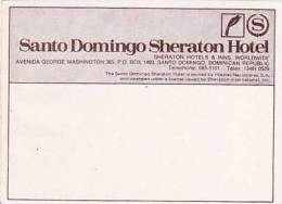 DOMINICAN REPUBLIC SANTO DOMINGO SHERATON HOTEL VINTAGE LUGGAGE LABEL - Hotel Labels