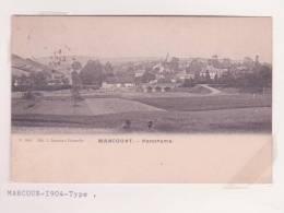 MARCOURT Carte Postale Met RELAIS Sterstempel 1904 Panorama - Rendeux