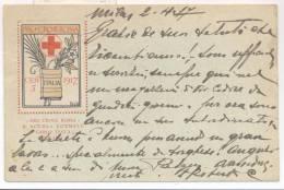 3791-PRO CROCE ROSSA-1917-ERINNOFILO-ILLUSTRATORE DE KAROLIS-FP - Croce Rossa