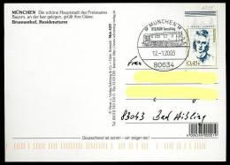 90888) BRD - SoST-Karte - 80634 MÜNCHEN Vom 12.1.2003 - BSG/BSW Tauschtag - E-Lok Baureihe E 62 = EP 1 (Bayrisch) - [7] West-Duitsland
