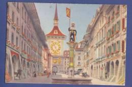 SUISSE-BERNE -grand Rue Et La Tour De L´horloge- Année 1950-  Non Circulée -(scan Recto-verso) - BE Berne