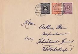 Gemeina. Brief Mif Minr.912,921,West-Sachsen 130 Chemnitz 14.10.46 - Gemeinschaftsausgaben