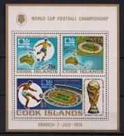 ISLAS COOK, AÑO 1974, YVERT HB 36**, TEMA DEPORTES, FÚTBOL, COPA DEL MUNDO DE MUNICH - Coppa Del Mondo