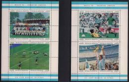 ARGENTINA, YVERT HB 33,34**, TEMA DEPORTES, FÚTBOL, MARADONA, COPA MUNDIAL MEXICO 1986 - 1986 – Mexico