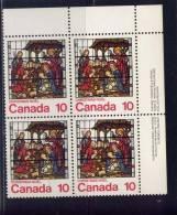 CANADA, 1976, # 698, CHRISTMAS: LA NATIVITY MNH     UR BLOCK - Blocs-feuillets