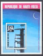 Haute-Volta Bloc-feuillet YT N°5L Fusée Saturn V - Président John F. Kennedy Neuf ** - Haute-Volta (1958-1984)