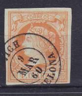 ESPAÑA- MATASELLOS FECHA - EDIFIL Nº 52 - VICH(BARCELONA) - 1850-68 Royaume: Isabelle II