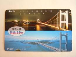 Japan Japon Phonecard NTT 105-350-269 1990 BRUG Pont Bridge Used - Télécartes