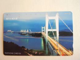 Japan Japon Phonecard NTT 105-351-036 1991 BRUG Pont Bridge Used - Télécartes
