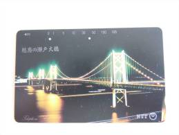 Japan Japon Phonecard NTT 105-371-042 1992 BRUG Pont Bridge Used - Télécartes