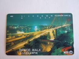 Japan Japon Phonecard NTT 105-391-096 1992 BRUG Pont Bridge Space Walk Used - Télécartes
