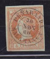 ESPAÑA- MATASELLOS FECHA - EDIFIL Nº 52 -PEÑARANDA( SALAMANCA) TIPO II - 1850-68 Royaume: Isabelle II