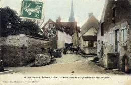 45-OUZOUER-sur-TREZEE-  Rue  Chaude Et Quartier Du Plat D´Etain-Animée ,Couleur - Francia