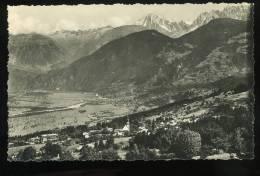 Haute Savoie Combloux 1406 Le Village L'Arve Et Le Fayet Dans Le Fond Les Drus Et L'Aiguille Verte CELLARD 1958 - Combloux