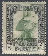 1921 LIBIA PITTORICA 5 CENT MH * - RR11394 - Libyen
