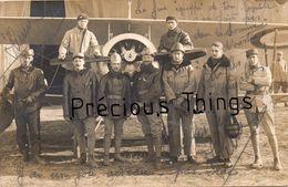 AVIATION 14 18 .RARE LOT DE 12 CARTES PHOTOS  DU 2EME GROUPE   3EME COMP.EMILE HERBRECHT 1916  1917  LIRE CORRESPONDANCE - 1914-1918: 1ère Guerre