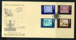 Solomon Islands 1983 World Communication Year FDC - Solomon Islands (1978-...)