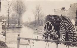 A .....Carte Photo Allemande Moulin à Eau Wassermühle Rad Mühle TOP !!!!! - Militaria